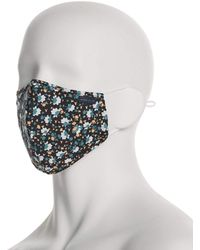 Perry Ellis Assorted Poplin Print 3 Pack Rounded Face Mask - Multicolor