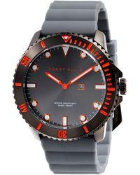 Perry Ellis Deep Diver Gunmetal Silicon Watch - Multicolor