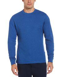 Perry Ellis Thermal Heather Sleep Shirt - Blue