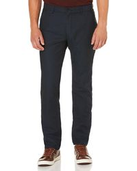 Perry Ellis Slim Fit Lightweight Linen Denim Jeans - Blue