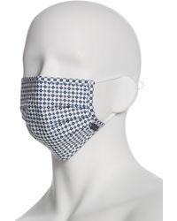 Perry Ellis Reusable Poplin 3 Pack Pleated Fabric Face Mask - Blue