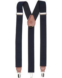 Perry Ellis Navy Pin Stripe Suspenders - Blue