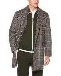 Perry Ellis - Plaid Brushed Wool Jacket - Lyst
