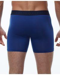 Perry Ellis Luxe Stripe Boxer Brief - Blue