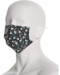 Perry Ellis Assorted Poplin Print 3 Pack Pleated Face Mask - Multicolor