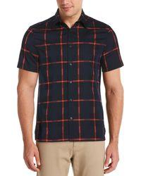 Perry Ellis - Dobby Plaid Shirt - Lyst