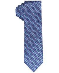Perry Ellis Stripe Geometric Tie - Blue