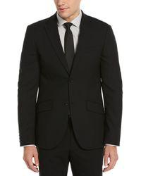 Perry Ellis Slim Fit Black Stretch Wool Blend Suit Jacket