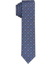 Perry Ellis Slim Cawsey Neat Tie - Blue