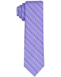 Perry Ellis Classic Surridge Neat Tie - Purple