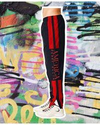 Perry Ellis Crinkle Track Pants - Multicolor