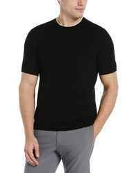 Perry Ellis Tech Crew Neck Sweater Tee - Black