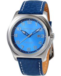 Perry Ellis - Memphis Navy Leather Watch - Lyst