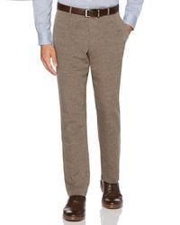 Perry Ellis Modern Fit End-on-end Linen Suit Pant - Multicolour