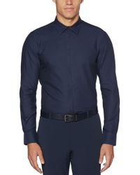Perry Ellis - Big & Tall Iridescent Scale Jacquard Shirt - Lyst