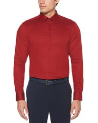 Perry Ellis Resist Spill Solid Shirt - Red