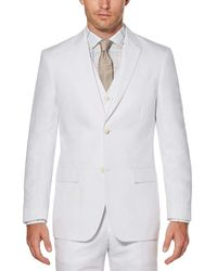 Perry Ellis Big & Tall Linen Twill Suit Jacket - White