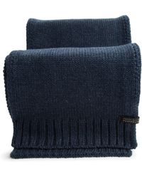 Perry Ellis Chunky Knit Scarf - Blue