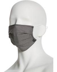Perry Ellis Reusable Poplin 3 Pack Pleated Fabric Face Mask - Multicolor