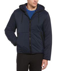 Perry Ellis Tech Hooded Zip Jacket - Blue