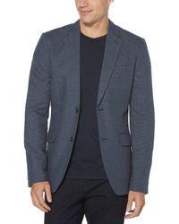 Perry Ellis Slim Fit Linen Sport Jacket - Blue