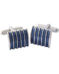 Perry Ellis Enamel Stripe Cufflink - Blue