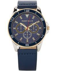 Perry Ellis Portfolio Navy Watch - Blue