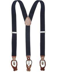 Perry Ellis Solid Suspender - Blue