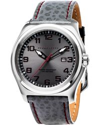 Perry Ellis - Memphis Grey Leather Band Watch - Lyst