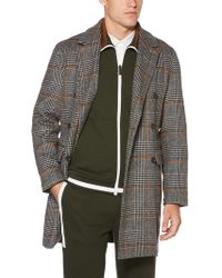 Perry Ellis - Plaid Brushed Wool Jacket - Lyst