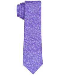 Perry Ellis Classic Eastick Floral Tie - Purple