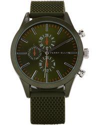 Perry Ellis Portfolio Dark Green Rubber Watch