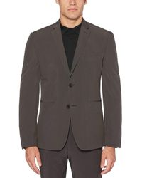 Perry Ellis Very Slim Fit Washable Grey Check Tech Suit Jacket