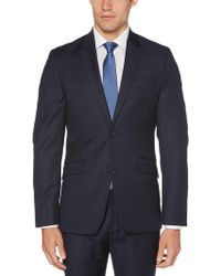 Perry Ellis - Slim Fit Plaid Washable Suit Jacket - Lyst