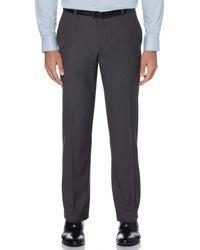 Perry Ellis Sharkskin Solid Suit Pant - Grey