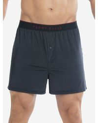 Perry Ellis Luxe Diamond Boxer Short - Blue