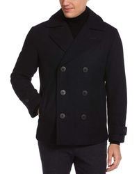 Perry Ellis Wool Peacoat - Blue