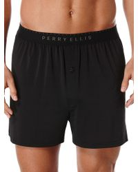 Perry Ellis - Solid Luxe Boxer Short - Lyst