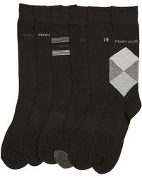 Perry Ellis - 6 Pack Argyle Logo Socks - Lyst