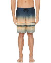 Perry Ellis Ocean Sunset Print Boardshort - Multicolor