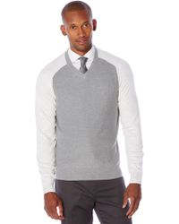 Perry Ellis | Long Sleeve Colorblock Sweater | Lyst