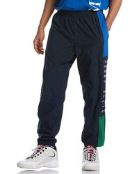 Perry Ellis Colorblock Nylon Track Pant - Blue