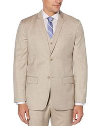 Perry Ellis Big & Tall Textured Suit Jacket - Natural