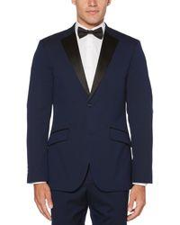 Perry Ellis Slim Fit Tuxedo Jacket - Blue