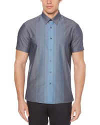 Perry Ellis - Big & Tall Short Sleeve Vertical Ombre Shirt - Lyst