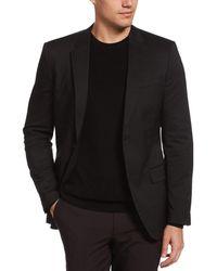 Perry Ellis Very Slim Fit Iridescent Twill Suit Jacket - Black