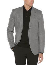 Perry Ellis Slim Fit Twill Grey Suit Jacket