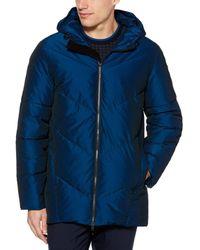 Perry Ellis Iridescent Puffer Jacket - Blue