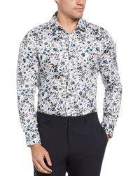 Perry Ellis Slim Fit Floral Print Shirt - Multicolour