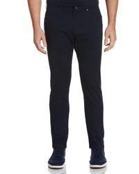 Perry Ellis Very Slim Fit Solid 5 Pocket Pant - Blue